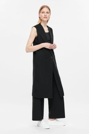 COS SLEEVELESS BLAZER black
