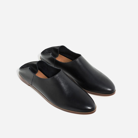 ZARA FLAT LEATHER SHOES