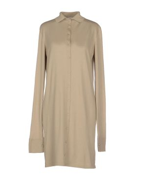 GENTRYPORTOFINO Long shirt in cotton and silk, beige