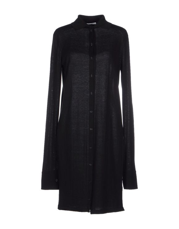 GENTRYPORTOFINO Long shirt in cotton and silk, black