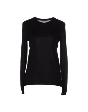 GENTRYPORTOFINO Long sleeve t-shirt in cotton/cashmere/silk, black