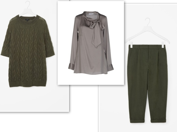 green-knit-grey-blouse-green-trousers