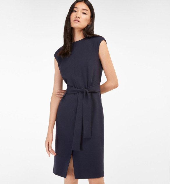 Massimo-duttti-dress-with-tie-belt-in-navy