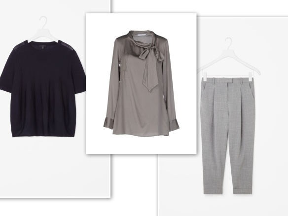 navy-knit-grey-blouse-grey-trousers