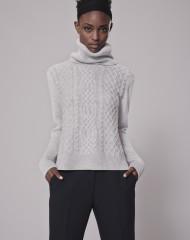 me+ em-cable-weekend-jumper 100%-merino-wool-grey-marl