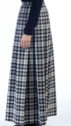scotweb_soft-pleat-skirt_scott-black-and-white-tartan_leftside