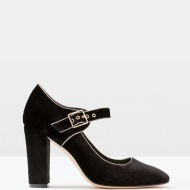 Boden VELVET MARY JANE in black