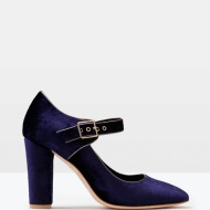 Boden VELVET MARY JANE in blue