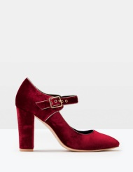 Boden VELVET MARY JANE in winterberry
