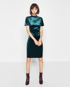 zara-velvet-dress-in-bottle-green