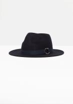 & other-stories-buckle-detail-wool-hat-in-dark-navy