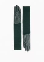 & other-stories-long-leather-wool-gloves-in-green