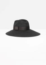 & other-stories-wide-brim-wool-hat-in-dark-grey
