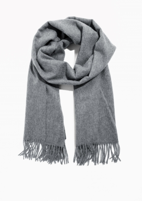 & Other Stories Oversized Wool Scarf in grey